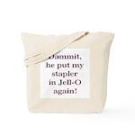 Stapler in Jello Tote Bag