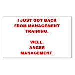Anger Management Rectangle Sticker