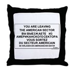 Leaving The American Sector Throw Pillow