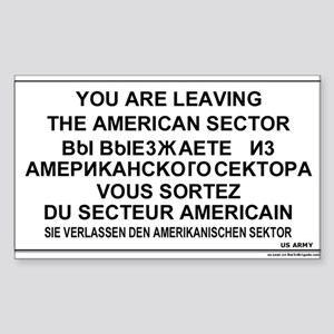Leaving The American Sector Rectangle Sticker
