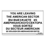 Leaving The American Sector Rectangle Sticker 50