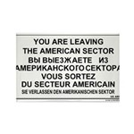 Leaving The American Sector Rectangle Magnet (10 p