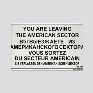 Leaving The American Sector Rectangle Magnet