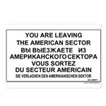 Leaving The American Sector Postcards (Package of