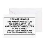 Leaving The American Sector Greeting Cards (Pk of