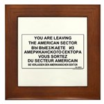 Leaving The American Sector Framed Tile