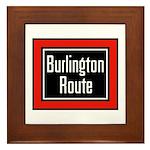 Burlington Route Framed Tile