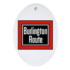 Burlington Route Oval Ornament