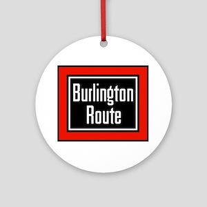 Burlington Route Round Ornament