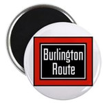 Burlington Route Round Magnet