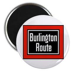 Burlington Route Round Magnet (100 pack)