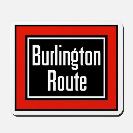 Burlington Route Mousepad