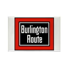 Burlington Route Rectangle Magnet