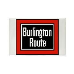 Burlington Route Rectangle Magnet (10 pack)