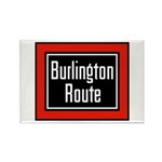 Burlington Route Rectangle Magnet (10 pack)