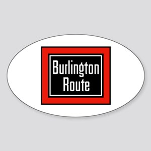 Burlington Route Oval Sticker