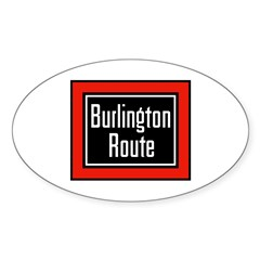 Burlington Route Oval Decal