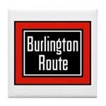 Burlington Route Tile Coaster