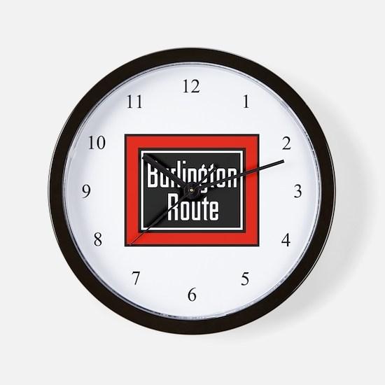 Burlington Route Wall Clock