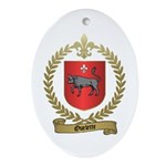 OUELETTE Family Crest Oval Ornament