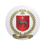 OUELETTE Family Crest Ornament (Round)