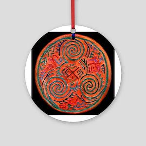 Owl Spiral Ornament (Round)