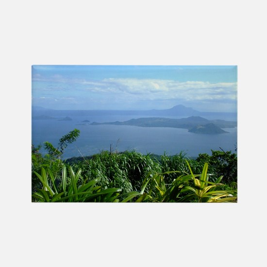 Taal Lake and Volcano, Tagayt Rectangle Magnet