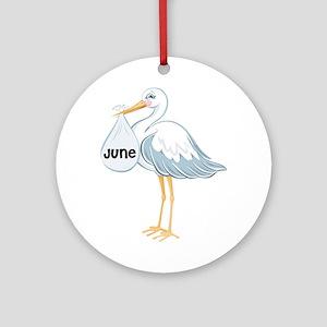 June Stork Ornament (Round)