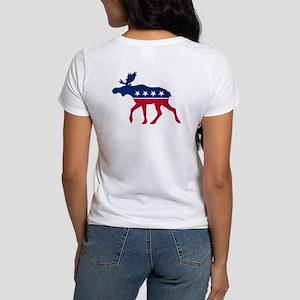 Sarah Palin Moose (front and back) Women's T-Shirt