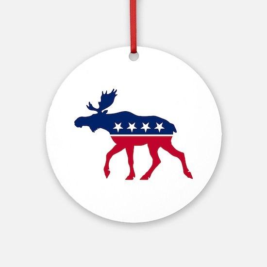 Sarah Palin Moose Ornament (Round)