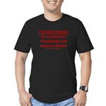 Racist Hate Speech Men's Fitted T-Shirt (dark)