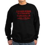 Racist Hate Speech Sweatshirt (dark)