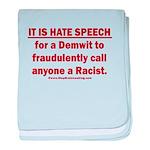 Racist Hate Speech baby blanket