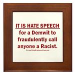 Racist Hate Speech Framed Tile