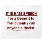Racist Hate Speech King Duvet