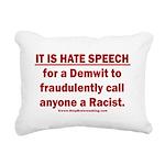 Racist Hate Speech Rectangular Canvas Pillow