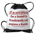 Racist Hate Speech Drawstring Bag
