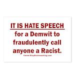 Racist Hate Speech Postcards (Package of 8)