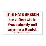Racist Hate Speech 20x12 Wall Decal