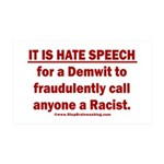 Racist Hate Speech 35x21 Wall Decal