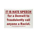 Racist Hate Speech Rectangle Magnet