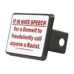 Racist Hate Speech Rectangular Hitch Cover