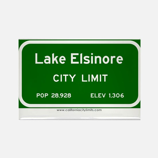 Lake Elsinore Rectangle Magnet