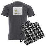 Inky Zo copy Men's Charcoal Pajamas