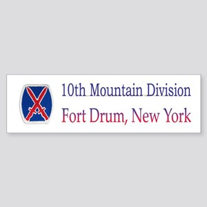 10TH MOUNTIAN DIV Bumper Sticker