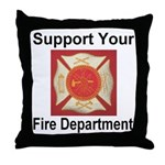 Support Your Fire Department Throw Pillow