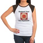 Support Your Fire Department Women's Cap Sleeve T-