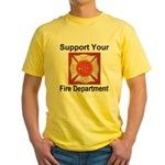Support Your Fire Department Yellow T-Shirt