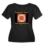 Support Your Fire Department Women's Plus Size Sco