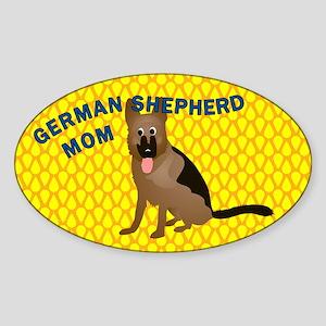 German Shepherd Mom Sticker (Oval)